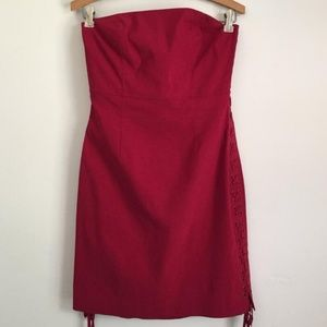 Vintage 90s express lace up sides club dress